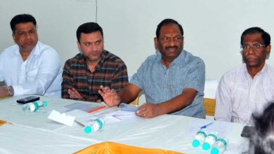 Photo of Akbar Owaisi, officials meet Minister of Minorities welfare