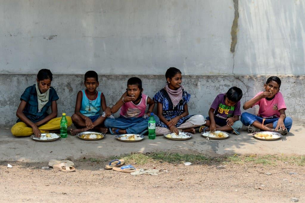 NGO distributes food among needy in Hyderabad