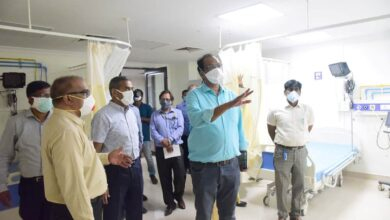 Photo of Central team inspects COVID-19 centre in Hyderabad