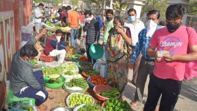 Photo of Corona scare in Hyderabad: People avoid weekly vegetable markets