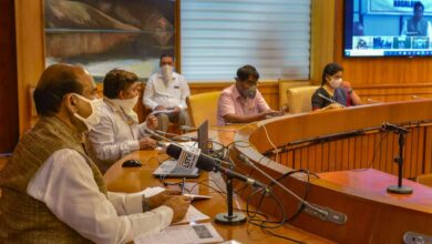 Om Birla holds a meeting on COVID-19