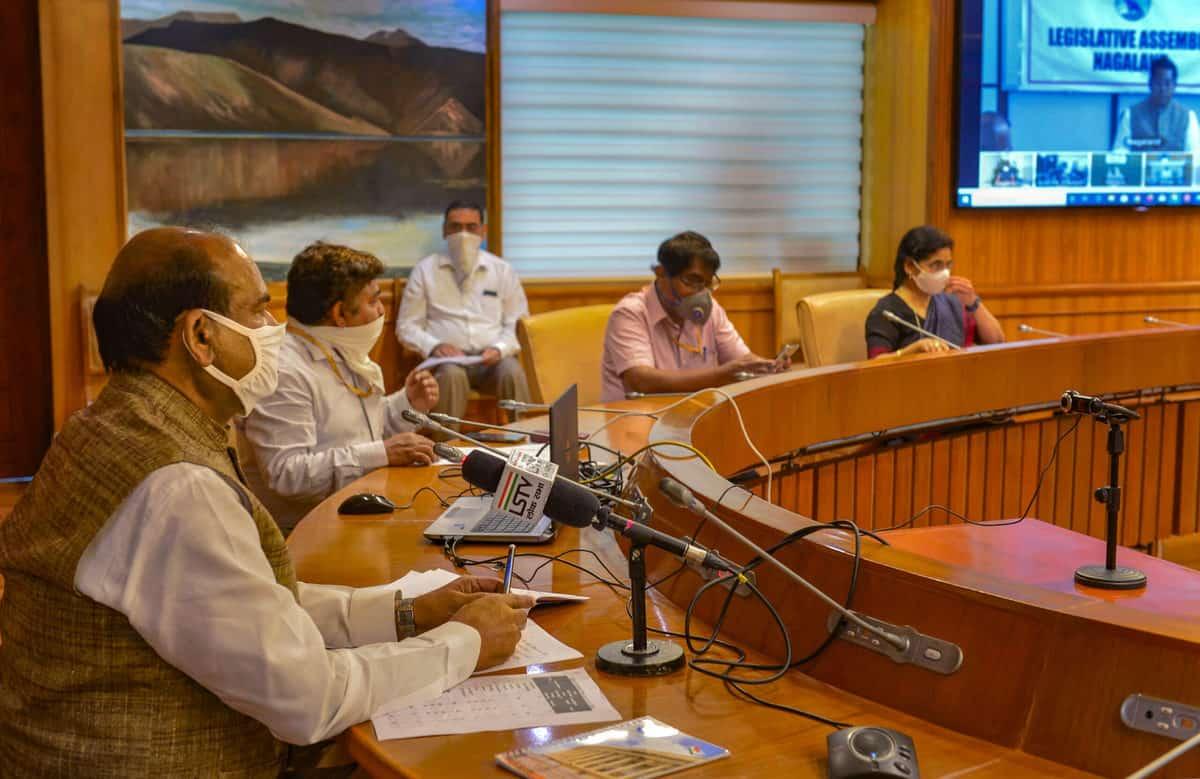 Om Birla holds a meeting on COVID-19