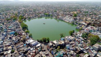 Photo of Pallecheru Lake shrinking due to encroachments