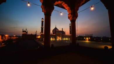 Photo of Ramadan: Illuminated view of Jama Masjid