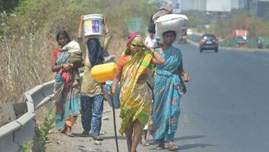 Photo of Maha: 1,000 migrant labourers hit streets, demand return home