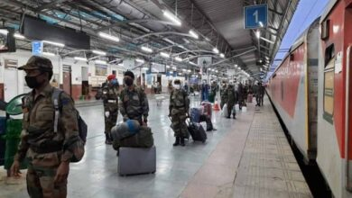 Photo of Military special train with 700 Army personnel arrives in Jammu