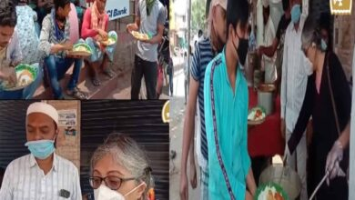 Photo of NGOs provide lunch for poor in Banjara Hills