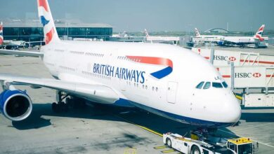 Photo of British Airways' stewardess offers 'adult services' in-flight; company launches probe