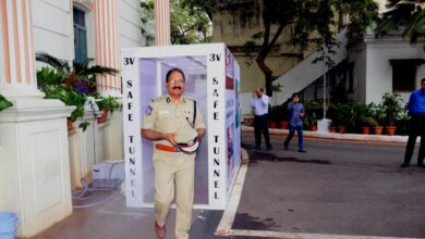 Disinfectant tunnel installed at DGP office in Hyderabad