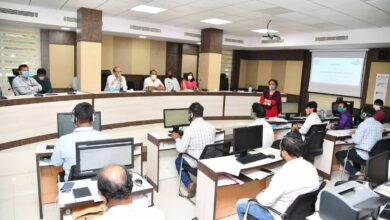 Photo of Central team inspects COVID-19 Control Room of GHMC