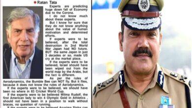 Photo of Hyderabad Top cop shares fake viral post attributed Ratan Tata