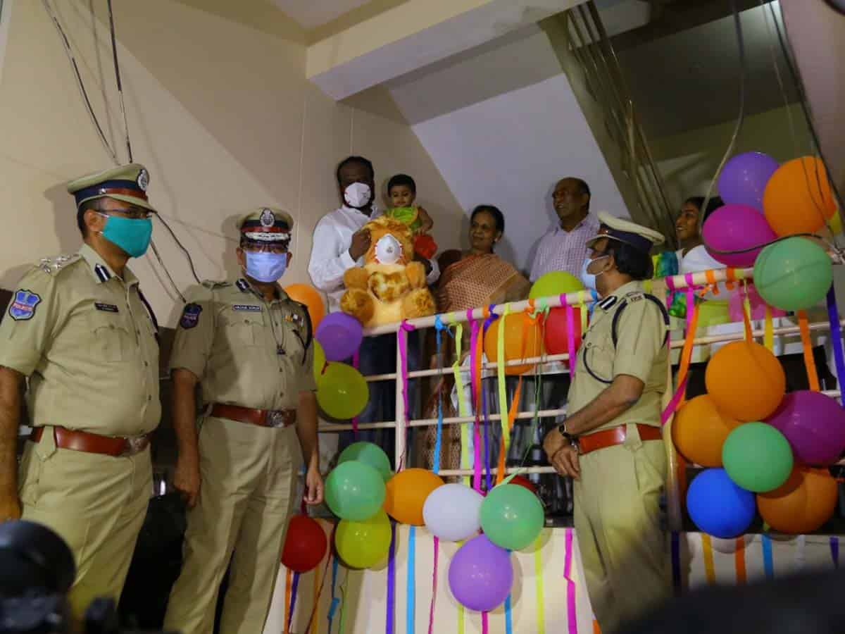 Hyderabad Police Commissioner makes baby's birthday special