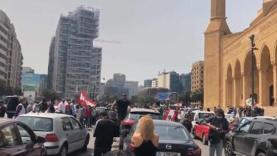 Photo of Lebanese protesters back on the streets… in their cars