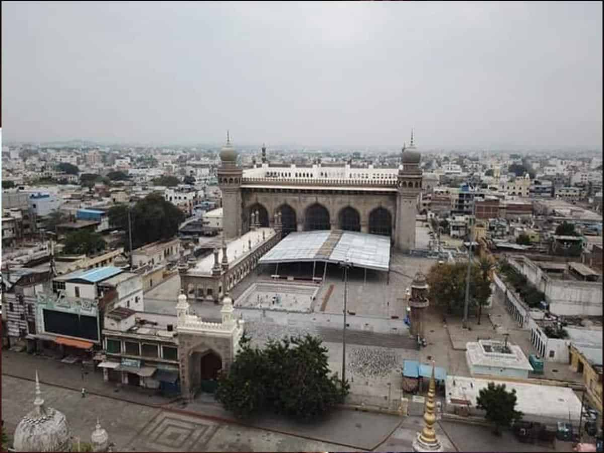 Hyderabad Lockdown view from the sky