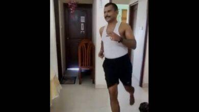 Kerala banker does a 42-km marathon in his flat
