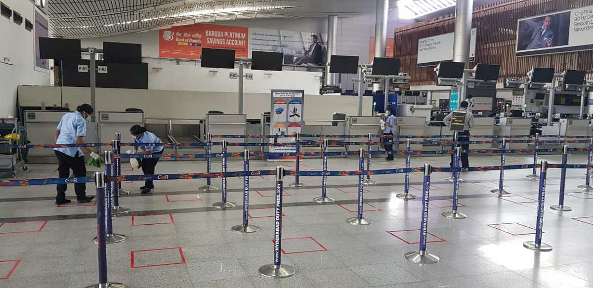 Safety measures at Hyderabad Airport