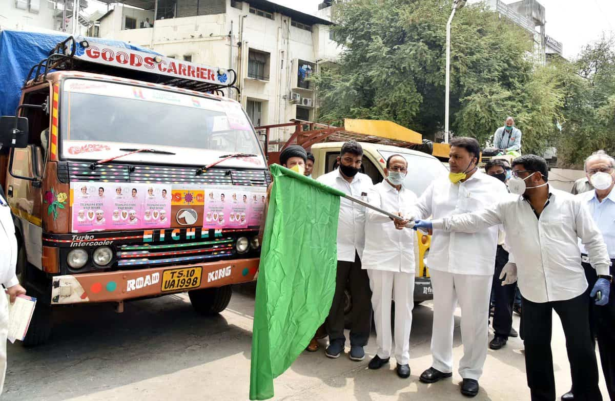 HM Mahmood ali flags of food Wakf board distribution for poor