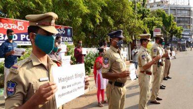 Photo of Hyderabad City Police shows solidarity to #MainBhiHarjeetSingh