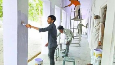 Photo of Quarantined migrant workers give makeover to schools in Sikar