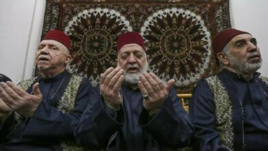 Photo of Group recital of prayer call echoes from Damascus to Al-Aqsa