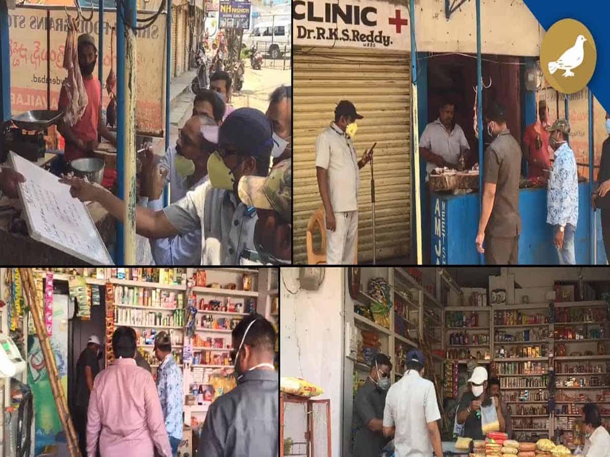 TS Civil supplies wing raids mutton and Kirana shops