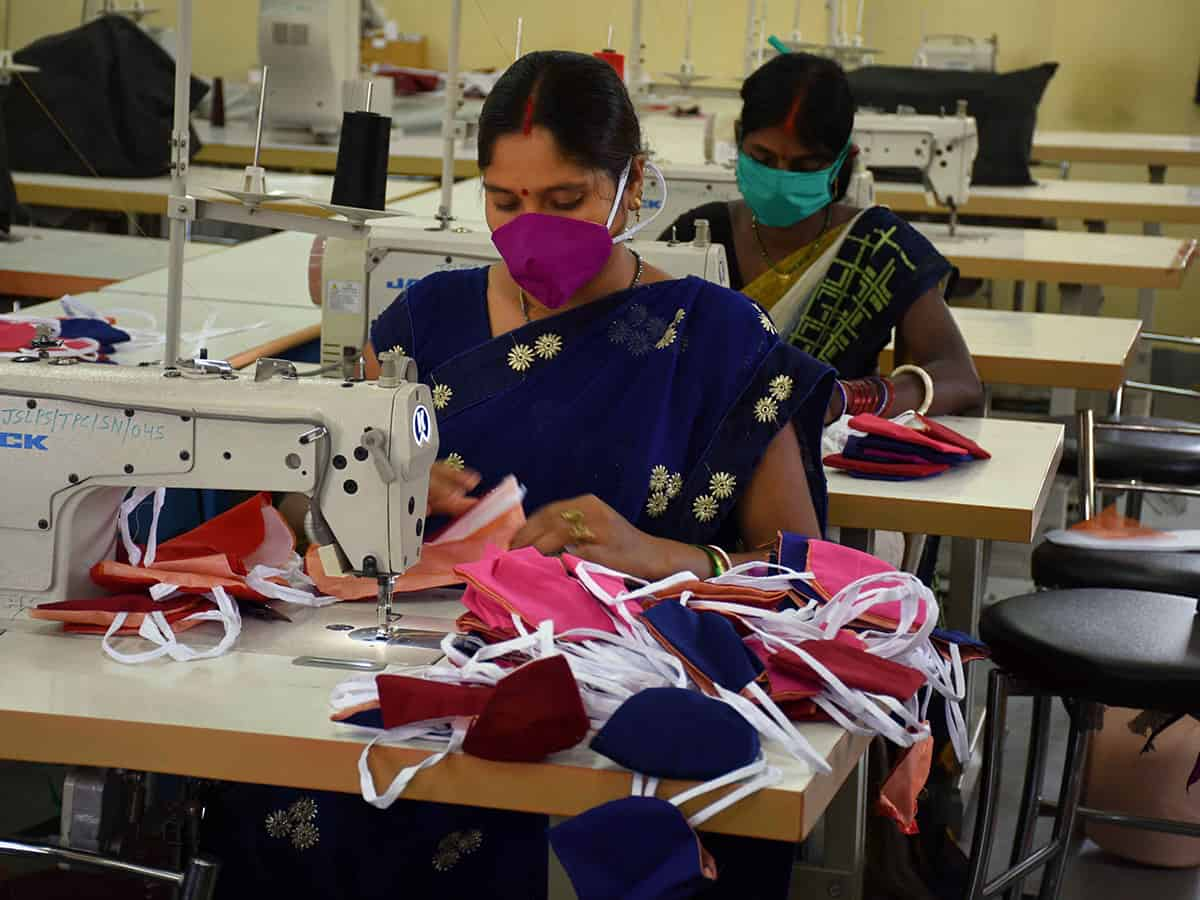 Combating COVID-19: SHG woman to contribute 60k masks