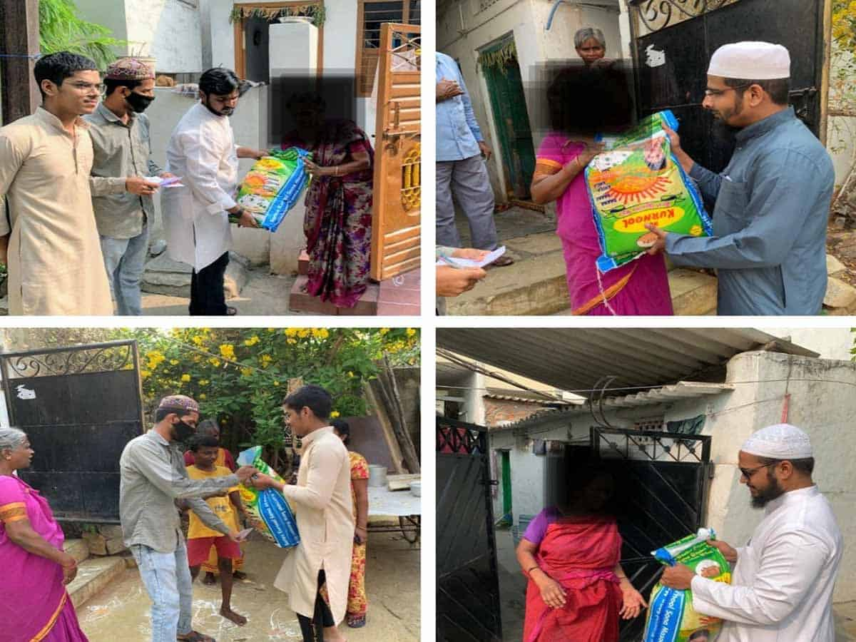 Hyderabadis supporting COVID-19 relief efforts