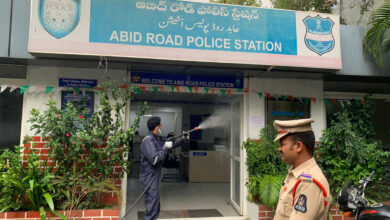 Photo of COVID-19: Police stations sprayed with disinfectant in Hyderabad