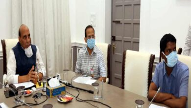 Photo of Rajnath reviews contribution of DPSUs, OFB to fight COVID-19