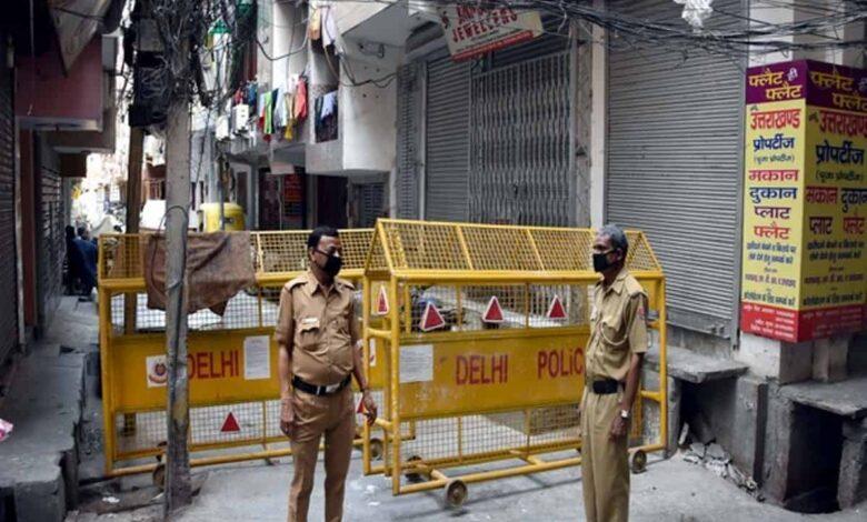 Containment zones in Delhi