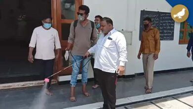 Photo of Mosque disinfection campaign by AIMIM former Corporator