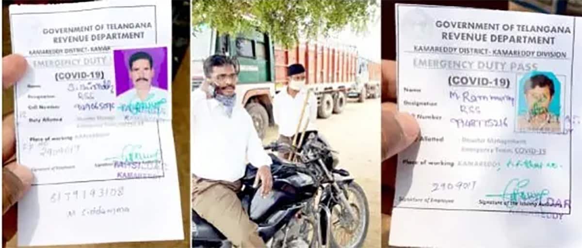 RSS workers at ration shops