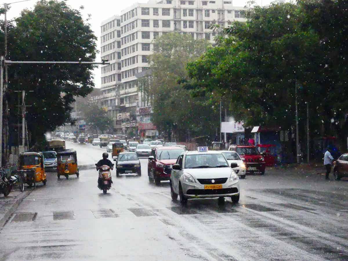Rain predicted today in Hyderabad