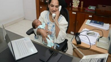 Photo of COVID Times: Commissioner back in office after delivering baby
