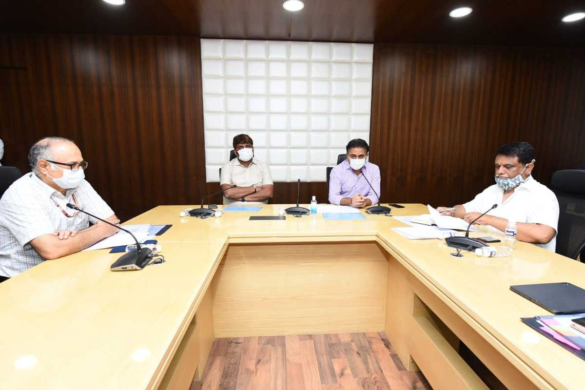 Development works are on mission mode during lockdown, says KTR