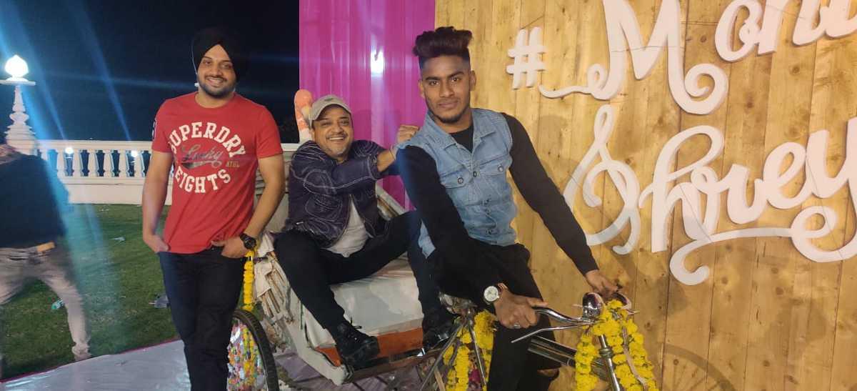Hyderabadi Rapper Ruhaan Arshad with music composer Sajid Ali in Ramoji Film City, Hyderabad.