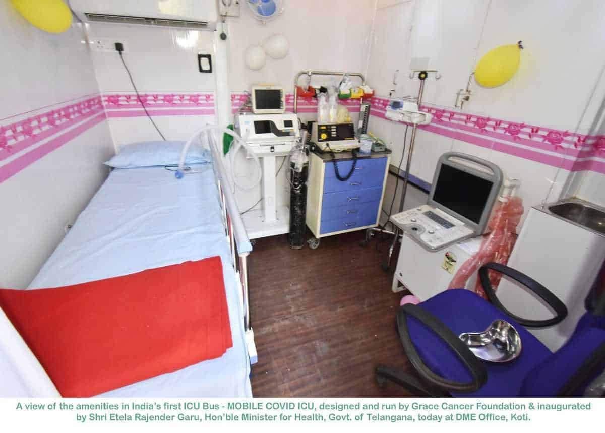 Telangana gets India's first mobile ICU for COVID-19 patients