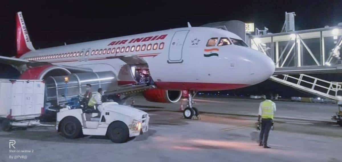 Air India Evacuation Flight under Vande Bharat Mission at Hyderabad International Airport