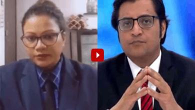 Photo of Woman imitates Arnab Goswami of Republic TV, video goes viral