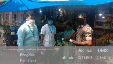 Photo of Bengaluru civic body fines maskless people Rs 51,700