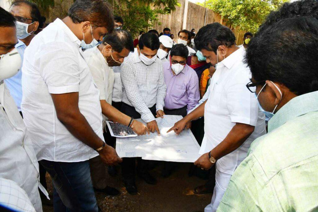 Minister, higher officials toured Sanathnagar constituency