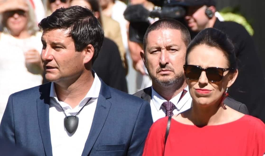 Jacinda Ardern with fiance Clarke Gayford