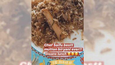 Photo of Eid special: Saif treats Kareena, Karisma with mutton biryani