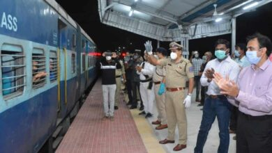 Special train leaves Hyderabad with 1,250 workers to Bihar