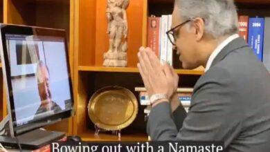 Photo of With a Namaste, Hyderabad's Akbaruddin bids UN Chief adieu