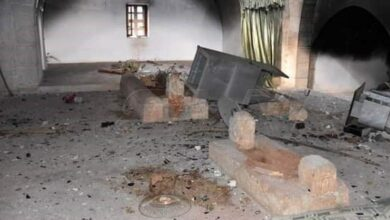 Photo of Tomb of Umar Bin Khattab's great-grandson destroyed in Syria