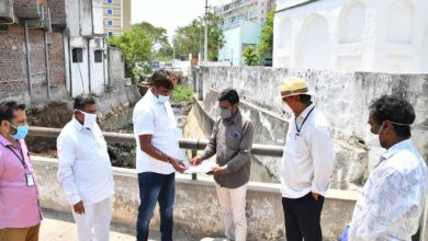 Photo of Mayor inspects Nala desilting works at Shaikpet