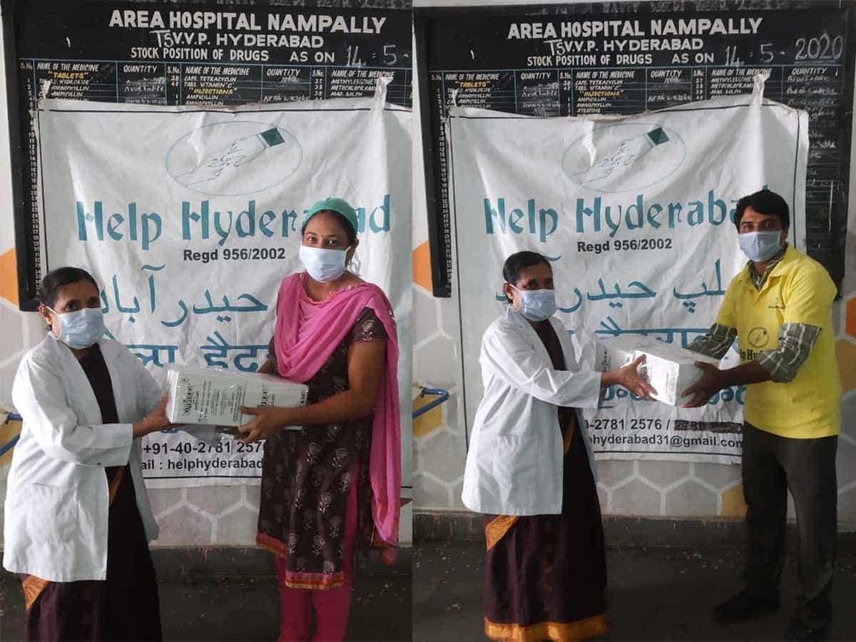 Help Hyderabad present meal boxes to COVID-19 warriors