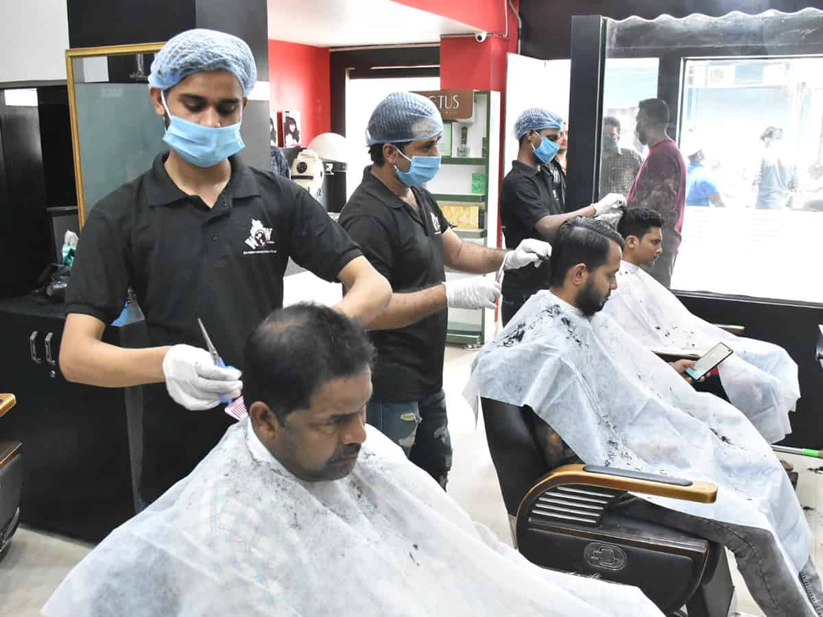 Salons open in Hyderabad after relaxation in lockdown rules