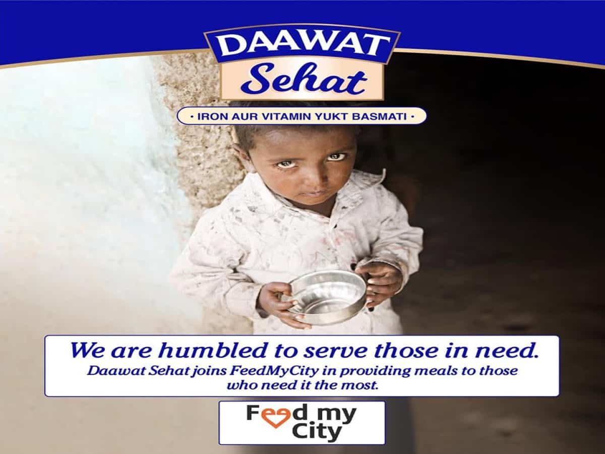 Lockdown: Daawat joins hands with Feed My City to feed needy